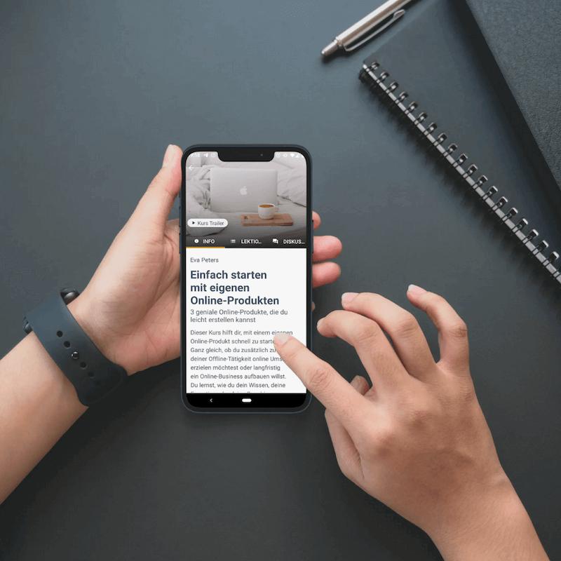 Audiokurs per App mobil nutzen