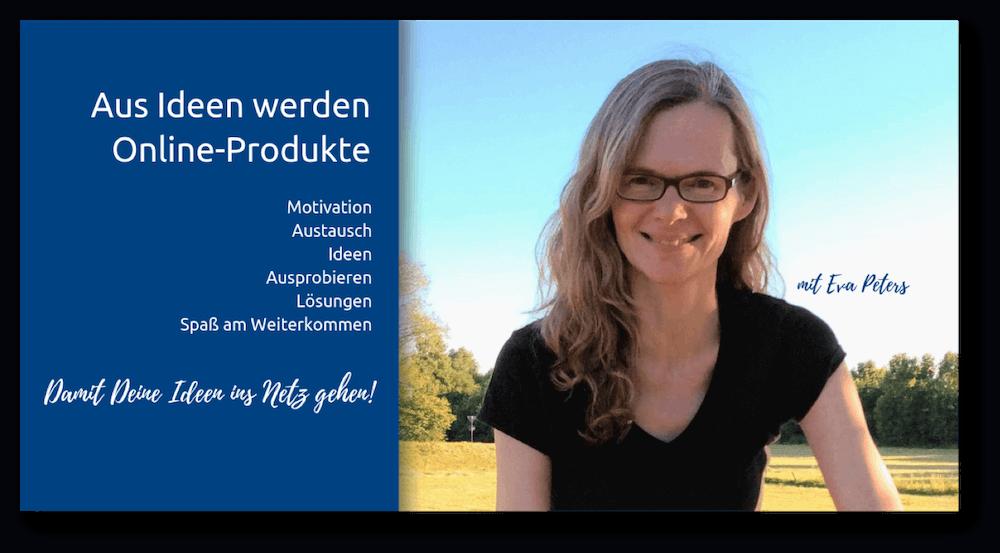Eva Peters und ihre Community für Online-Produkte