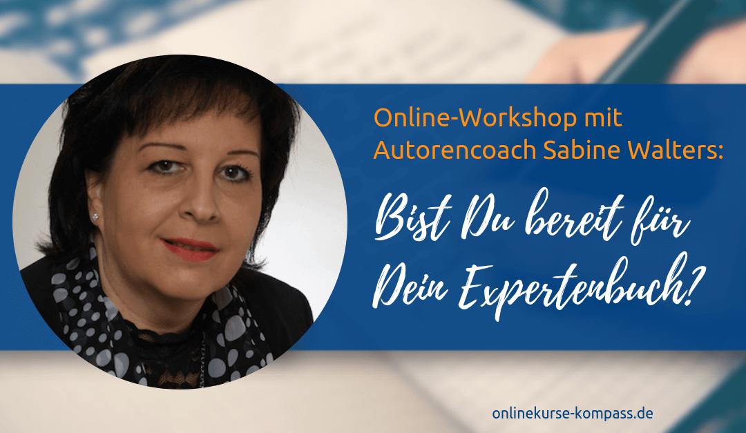 Expertenbuch Online-Workshop mit Sabine Walters