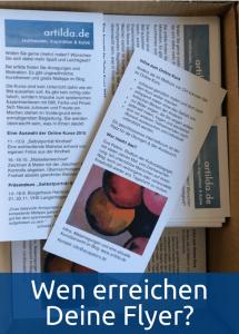 Machen Flyer für die Bekanntmachung von Online-Workshops Sinn?