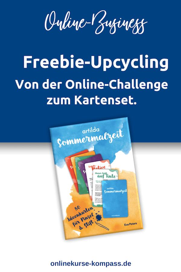 Freebie Upcycling von der Online-Challenge zum Kartenset