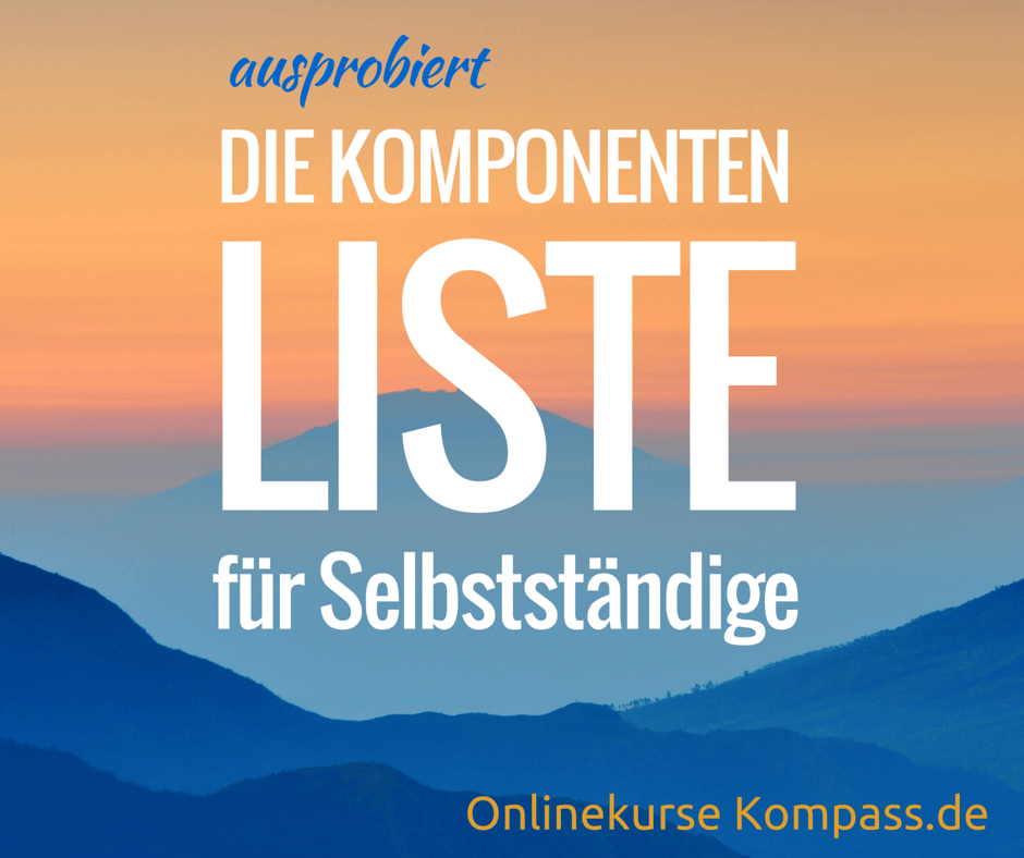 Neu von Smart Business Concepts: die Komponenten-Liste