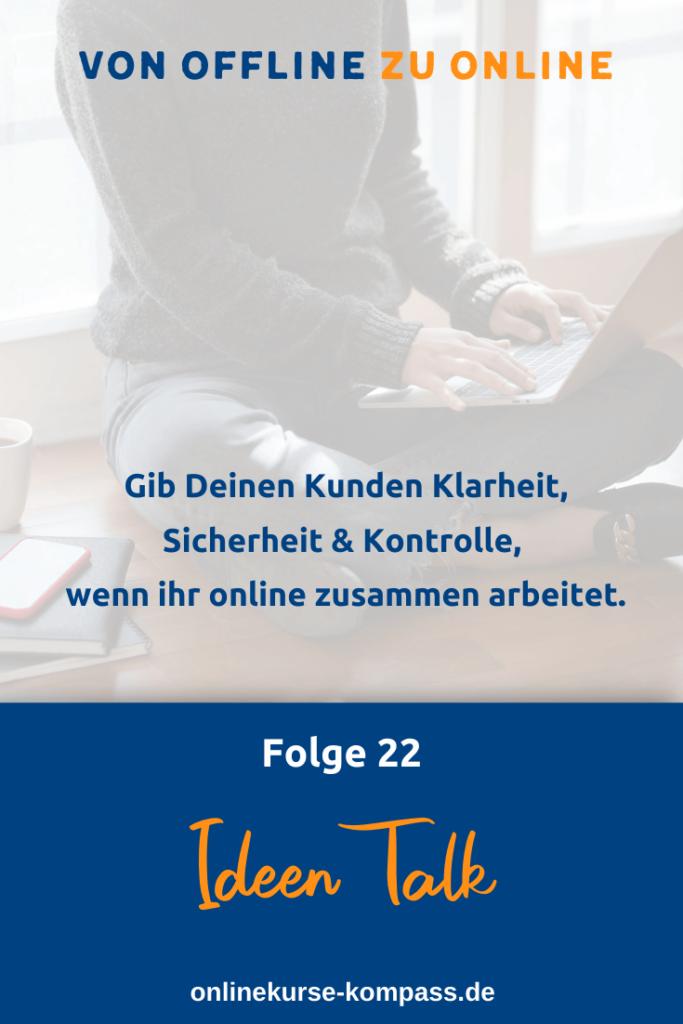 von offline zu online arbeiten mit Kunden
