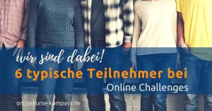 Teilnehmertypen Onlinechallenges