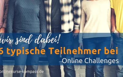 Wir sind dabei! Teilnehmertypen bei Online-Challenges