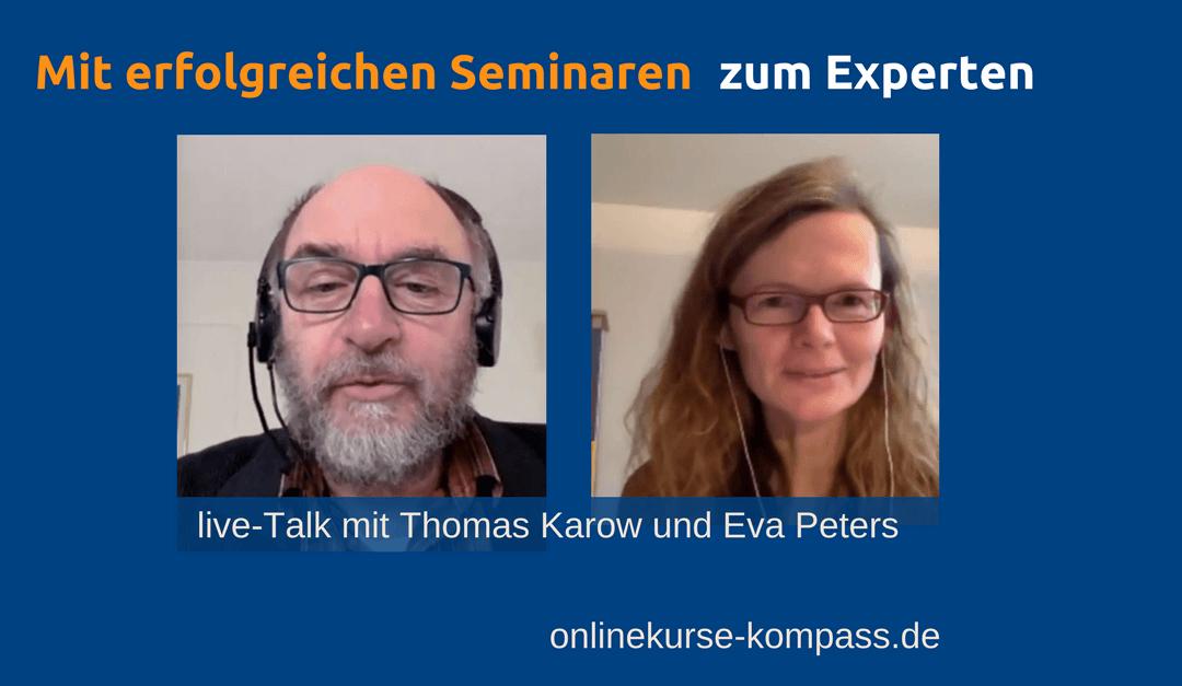 Thomas Karow im Interview mit Eva Peters vom Onlinekurse Kompass