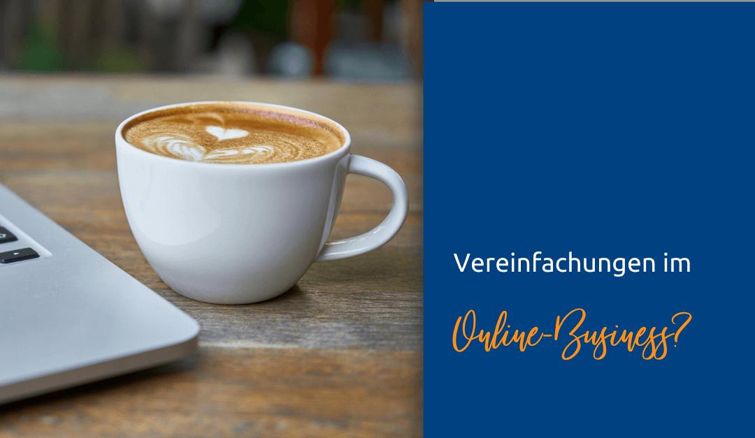 Vereinfachen im Online-Business