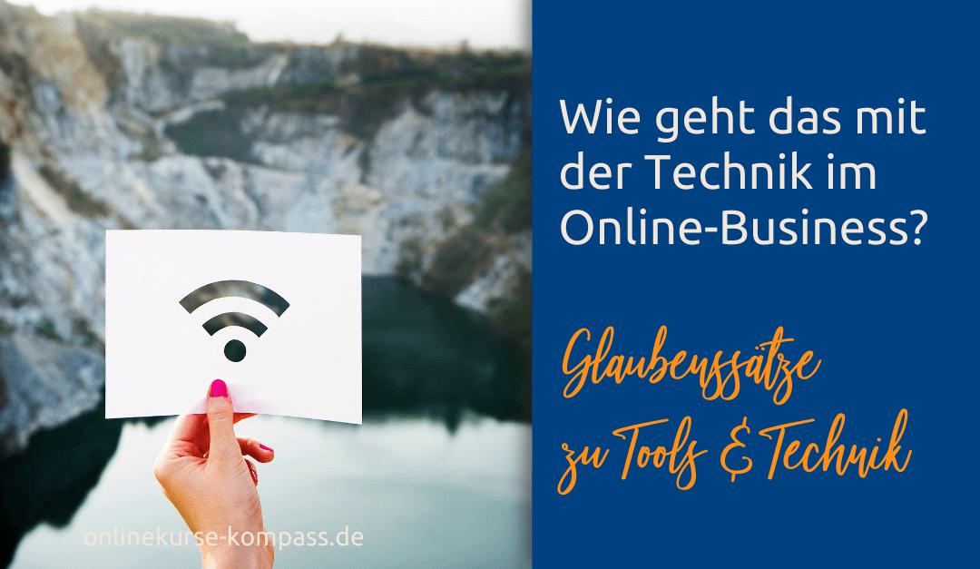 Wie geht das mit der Technik im Online-Business?